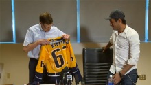 Mike Ribeiro and GM David Poile excited about a new beginning.